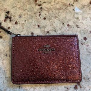 Coach sparkle card case